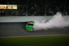 Danica Patrick ARCA Slide - photo by Bob Costanzo
